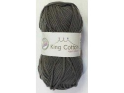 King cotton antracitová