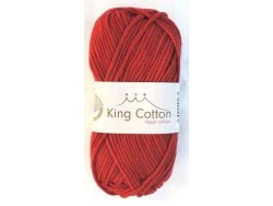 King cotton rubínová