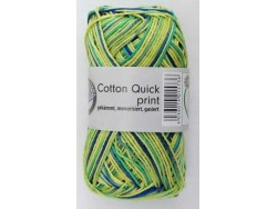 Cotton Quick Print - Zeleno modrá multicolor 191