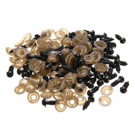 Bezpečnostné očká - čierne (8 mm)