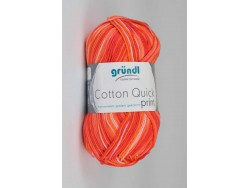 Cotton Quick Print - oranžovo červená multicolor 234