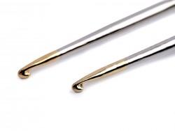 Kovový háčik so zlatou špičkou (12 cm) - 4 mm