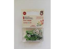 Farebné zicherky v plastovom púzdre - odtieň zelený