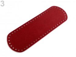 Dno na kabelku - červené (10 x 30 cm)