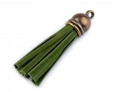 Strapec z eko kože - zelený