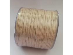 Bavlnená voskovaná šnúrka 1 mm - ecru
