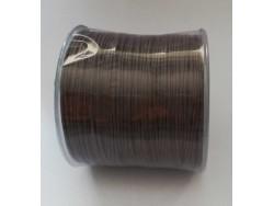 Bavlnená voskovaná šnúrka 1 mm - hnedá