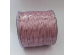 Bavlnená voskovaná šnúrka 1 mm - svetlo fialová/staroružová