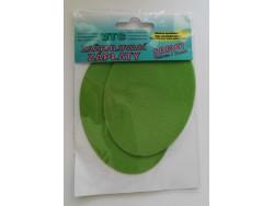 Zažehlovacua záplata - zamat - zelená (farba 71)