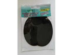 Zažehlovacia záplata - zamat - čierna (farba 19)