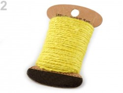 Jutový motúzik - žltý