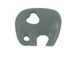 Silikónový prívesok slon - šedý