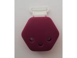 Silikónový klip - fialový