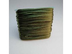 Saténová šnúrka - zelená