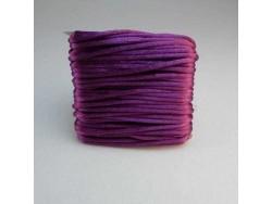 Saténová šnúrka - tmavo fialový