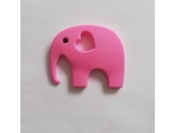 Silikónový prívesok slon - ružový