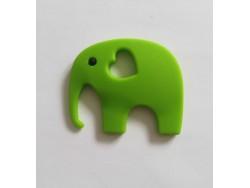 Silikónový prívesok slon - svetlo zelený
