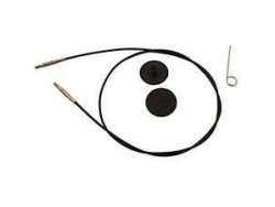 KnitPro lanko 40 cm - čiernozlaté