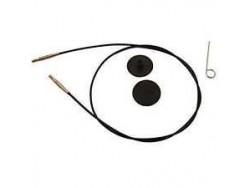KnitPro lanko 100 cm - čiernozlaté