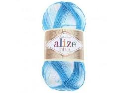 Diva Batik - bielo-modrá
