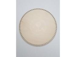 Drevené dno na košík - kruh (25 cm)