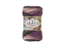Burcum Batik - fialovo šedá