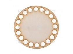 Drevené dno na košík - kruh (10 cm)