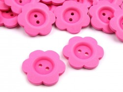 Dekoračný drevený gombík kvet - ružový
