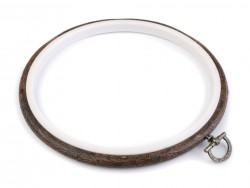 Vyšívací kruh  Flexi - tmavá jelša - 12 cm