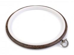 Vyšívací kruh Flexi - tmavá jelša - 20 cm