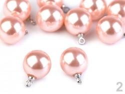 Perla s očkom - púdrová - 11 mm