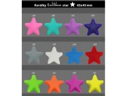 Silikónová hviezda - sýto zelená