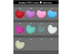 Silikónové korálky v tvare srdca - modré
