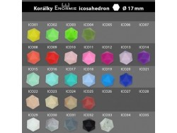 Silikonové korálky icosahedron - 17 mm - tmavá fialová