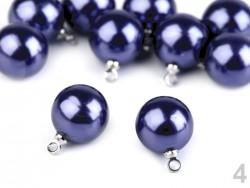 Perla s očkom - parížska modrá - 11 mm