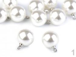 Perla s očkom - biela - 11 mm