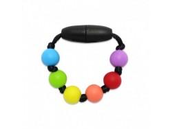 Silikónový krúžok na šatku / náramok pre dievčatko - veselý