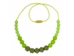 Silikónový náhrdelník - v zelenom ladení