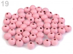 Drevené korálky Ø 8 mm - svetlo ružové