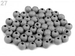 Drevené korálky 8 mm - svetlo šedé