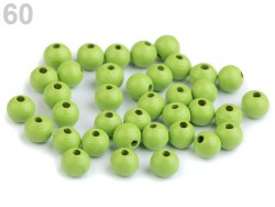 Drevené korálky 8 mm - svetlo zelené