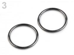 Krúžok mm na kabelku Ø30 - čierny nikel