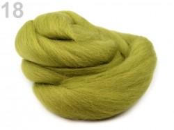 4esané merino - svetlo zelené