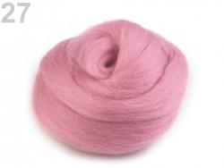 Česané merino - ružové