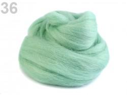 Česané merino - pastelovo zelené