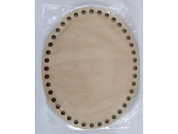 Drevené dno na košík - ovál (20 x 25 cm)