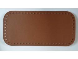 Dno na kabelku z koženky - hnedé (15 x 31 cm)