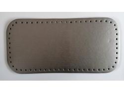 Dno na kabelku z koženky - metalicky šedé (15 x 31 cm)