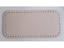 Dno na kabelku z koženky - krémové (15 x 31 cm)