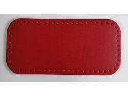 Dno na kabelku z koženky - červené (15 x 31 cm)